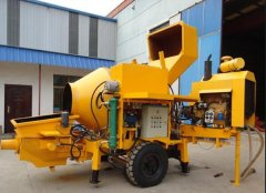 Concrete pump mixer is applied to varieties of construction